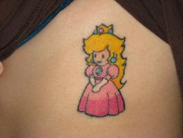 Princess Peach Tattoo by Kricket1385