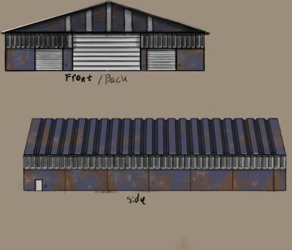 Warehouse concept art by Olivitree