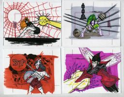 sketch cards dangerous divas7 by TomKellyART
