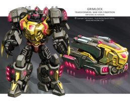 Transformers WfC: Grimlock by Mecha-Zone