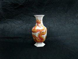 Papermodel- Chinese Dragon Vase by paperJin