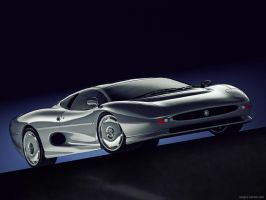 Jaguar XJ220 CGI by sergoc58