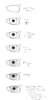 how to draw overly detailed eyes by ExplodingBonBons