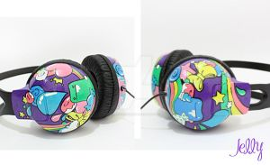Rainbow Headphone by PoppinCustomArt