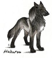 Hakurou Black Phase Wolf by WildSpiritWolf