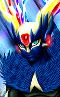 X with Xerneas mask and clothing by samusmmx