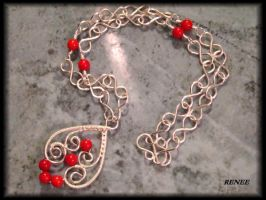 Coral Heart necklace by jasmin7