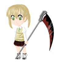 Maka with a Scythe by Z-Raid