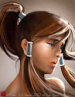 Korra Speed Painting by ARRIAthelion