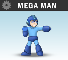 SSB4 - Mega Man by Antonator