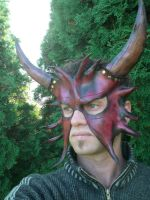 Horned Devil Leather Mask1 by Skinz-N-Hydez