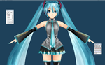 Project diva Kei Style miku Commission WIP2 by chatterHEAD