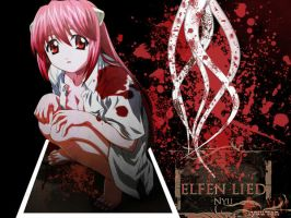Wallpaper Elfen Lied by yuu-san