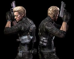 Wesker Model: Frnt to Bck 2 by DragonKeeper333
