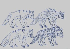 Kaiju: Arctic Wolves by Cyprus-1