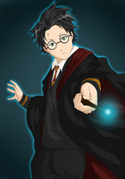 Harry Potter by darthfilart