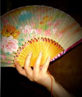 Fan in Hand Stock 1 by Forbidden-Stock