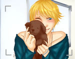 Rob takes pics with pups .:OC:. by Glass-Moon-Neko