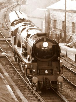 Braunton / Lord Dowding arrives at Swanage by artjuggler