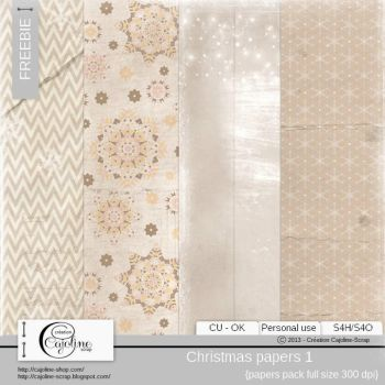 FREE CHRISTMAS PAPERS by cajoline-scrap