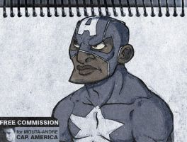 COMMISSION: Cap America by gus-kitagawa