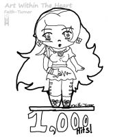 1,000 Hits Dedication Line-Art by Faith-Bailey