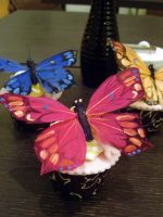 Feather Butterfly Cupcakes by Sliceofcake