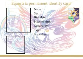 Equestria permanent ID card by RageRex