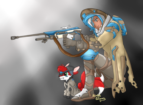 TrickyFox and Ana by PaintedPatience