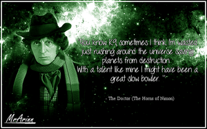 Doctor Who - Fourth Doctor Qoute by MrArinn