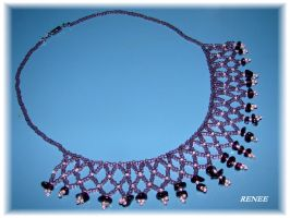 Purple and rose collar by jasmin7