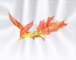 Abstract Legendary Moltres by UneQuintessence