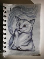 Ghostly Cat by Dkyo