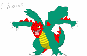 Chomp Druddigon by DeeJaysArt1993