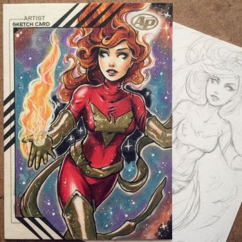 Jean Grey Art Card (Artist Proof) by ColletteTurner