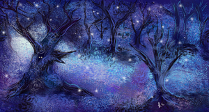 Nite Forest1 by thepurpleorchid1