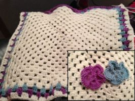 Crochet Flower Blanket - WIP by Riolama