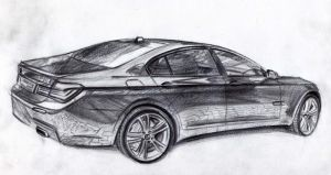 BMW 7 drawing by MentosDesign