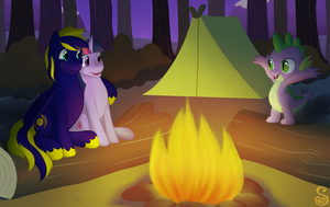 Commission: Campfire Tales by Shrineheart