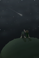 Looking at the stars by Nakubi