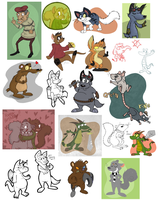 Lotsa Doodles by RaunchyOpposition