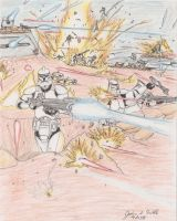 Clone War Battle by Tribble-Industries