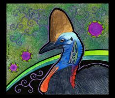 Cassowary as Totem 02 by Ravenari