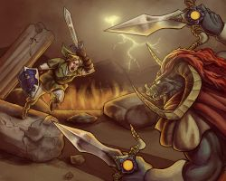 OOT Final Battle by Vogelspinne