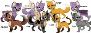 All of my OC's by NutellaBunny