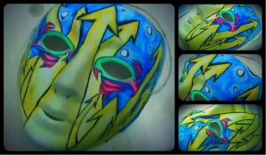 mask design (for my breakdance group) by abtheartist