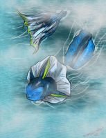 The Power of Water-Vaporeon by FantasyDemonAngel