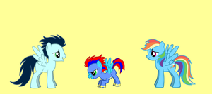 Rainbow Dash, Soarin' and thier daughter by TwilightSparkleStar