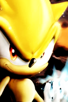Super Sonic iPhone bg by gameover89