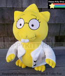 Alphys Plush Commission by QueenBeePlush
